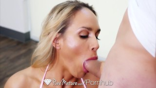 PUREMATURE Busty Milf Tegan James fucked during her yoga session Small natural