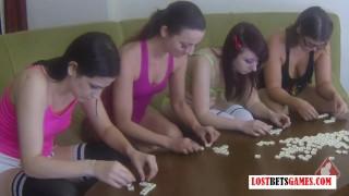 4 Beautiful Women Stripping