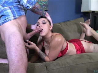 Cum on my slutty fucking face (Sasha Foxxx)