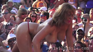 XXX Wet T Contest Fantasy Fest Naked Pool Party!
