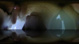 Hidden cam 360 VR film girl masturbating underwater