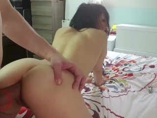 Young GF amateur fucked like a bitch in her ass and get cumshot on it!