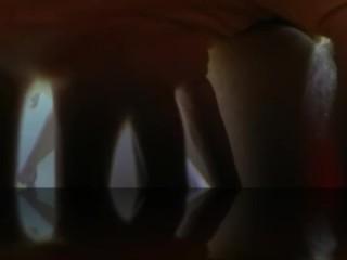 Closeup underwater masturbation
