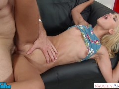 Uma Jolie fucks her friend's brother near stripper pole - Naughty America
