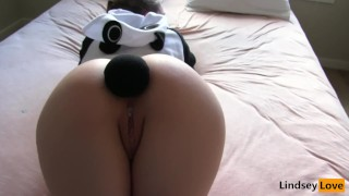 Slutty Panda gets Pounded!  spanking teen point-of-view big-ass blonde buttplug toys hardcore butt rough costume buttplug tail panda tail intense save the pandas