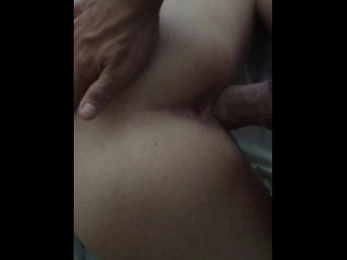 Amateur cock spanking in slowmotion