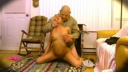 Grandpa Bangs Naive Blonde Teen Caretaker