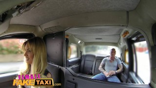 Preview 4 of Female Fake Taxi Tattooed hunk blows his big load into sexy drivers mouth