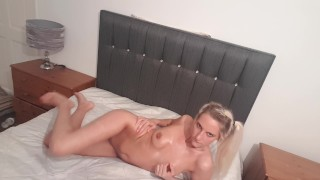 Clip Oiled up fuckdoll fingers sweet pussy