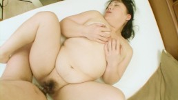 Chubby Japanese MILF is fucked until her pussy is filled with cum