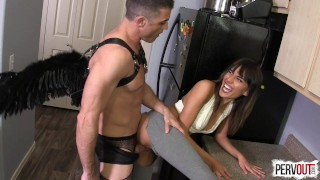 Janice Griffith VS God (with Lance Hart)  strap on guy liner janice pegging pegging strapon men in fishnets leggings femdom fucking handjob kink sweetfemdom cum eating janice griffith angel lance hart