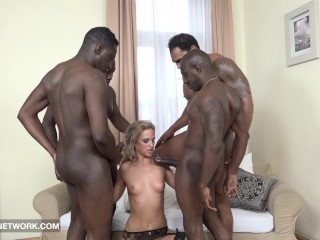 Idea double interracial penetration and facials