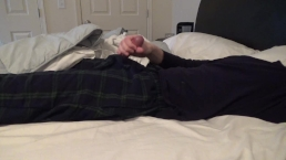Jerking Off And Cumming Hard In Bed For Hannah -- JohnnyIzFine