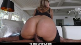 TeenCurves - Big Ass Blonde Fucked In Stockings