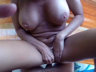 HOT AMATEUR WIFE FUCKED BY HUSBAND ON HAMMOCK – POV