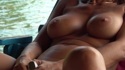 HOT AMATEUR MASTURBATING WATER SIDE SQUIRTING ORGASM