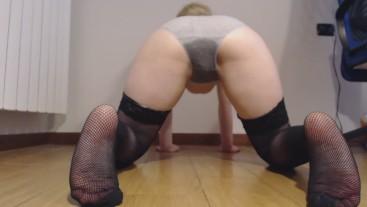 In doggy: pee in panties