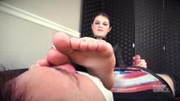 Black Widow Foot Smelling Handjob Brattyfootgirls.com