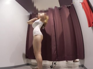 Preview 4 of Teen in lingerie store's Dressing room