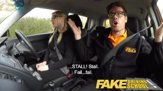 Fake Driving School Young college student takes a creampie for free lessons  blonde teen fake taxi creamy pussy british pigtails glasses funny driving instructor blowjob pov english young hairy-pussy teen creampie grool british teen teenager wet-pussy fuck