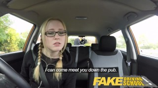Fake Driving School Young college student takes a creampie for free lessons  driving instructor wet-pussy fuck creamy pussy british pigtails glasses funny blowjob pov english young hairy-pussy teen creampie fake taxi teenager blonde teen grool british teen