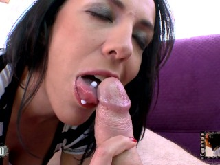 Please don t fuck my daughter hot french milf giving a tasty blowjob to terry kemaco mmm100 mom moth