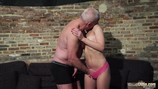 Old and Young Porn - Grandpa Fucks Teen Pussy fingers her twat and cumshot porno