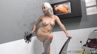 Gloryhole Slut Cadence Lux Sucks Black Cock big cock hardcore big black cock kink blowjob blonde gagging gloryhole glory hole pornstar deepthroat interracial dogfartnetwork