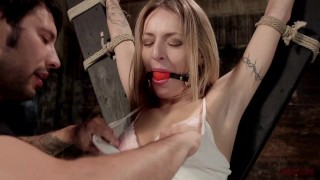 Bondage first nb's time tits pounded