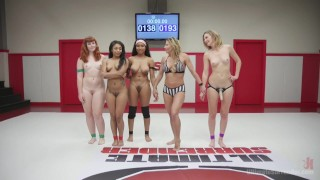 Rookie Cup  pussy-eating big-tits submission humiliation black straight wrestling strap-on face-sitting domination lesbian tag team ultimatesurrender fingering anal barbary rose cali confidential lesbian anal