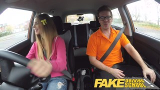 Fake Driving School full scene - Hot Italian learner with big natural tits  big natural-tits driving instructor full scene fake taxi choking funny blowjob big-boobs learning to drive pov young car fakedrivingschool student shaved orgasm