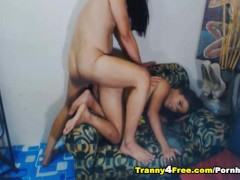 Two Sexy Tranny Having Anal Sex