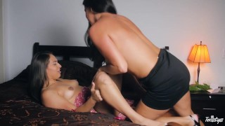 When Girls play - Licking my step mom Blowjob young