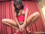 Ebony Yanks Girl Roxy Squirts