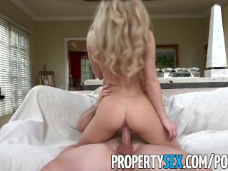 PropertySex – Petite real estate agent fucks to get house listing