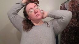 Hair Journal: Combing Long Curly Strawberry Blonde Hair - Week 17 (ASMR)
