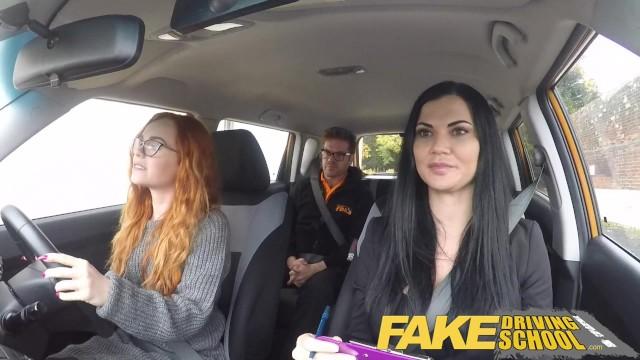 Fake driving school redhead ella hughes eats instructors cum - 1 part 5