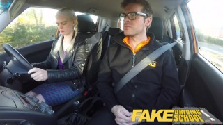 Fake Driving School student with big tits and hairy pussy has creampie young squirting-orgasm british blonde hairy-pussy pigtails big-boobs creampie big-tits teen-squirt orgasm fakedrivingschool squirt reality funny car-sex