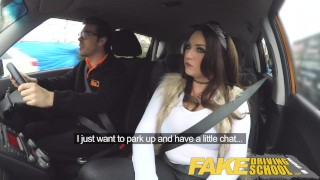 Fake Driving School busty jailbird takes instructor on a wild ride!