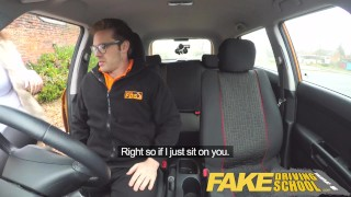 Fake Driving School busty jailbird takes instructor on a wild ride! Naked babes