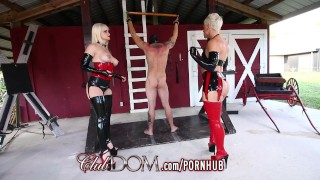 ClubDom Mistress Whip And Cane Before Milking Massager canadian