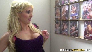 Christie Stevens Sucks BBC - Gloryhole hardcore glory-hole big-black-cock kink face-fucking blowjob blonde gloryhole pornstar deepthroat big-boobs big-tits interracial dogfartnetwork fetish busty