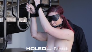 HOLED Kinky bondage fetish with Kat Monroe leads to rough anal