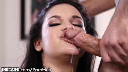 Throated Newcummer Eden has No Gag Reflex!