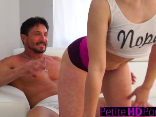 Real Prostitute Teen PetiteHDPorn - Step - Daughter Teases Dad With Big Ass