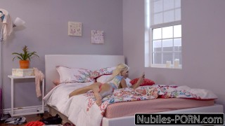 Naughty Blonde Elizabeth Jolie Seduces Roommate  natural hardcore blonde riding big-cock shaved cumshot cock-sucking smalltits cowgirl skinny nubiles porn facialize petite doggystyle facial