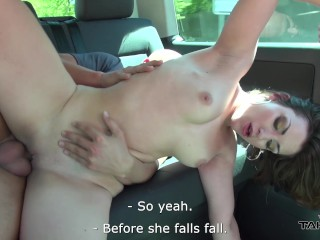 Hillary Duff Giving Blowjob After Propusal Takevan - Flower Babe Smiles When Come To Van With Strang