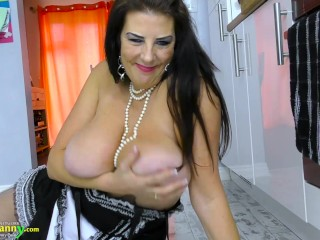 Sex Pussy Girl Oldnanny Great Sexy Maid Is Having Her Time, Big Tits Masturbation Mature