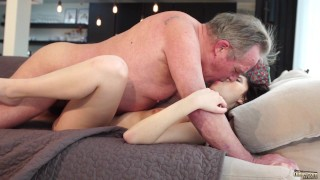 Old and Young Porn - Sweet innocent girlfriend gets fucked by grandpa Vibrator ginger