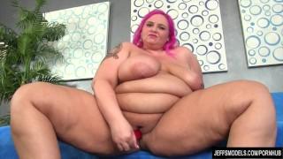 Big boobed fatty uses sex toys Videoteenage teasing